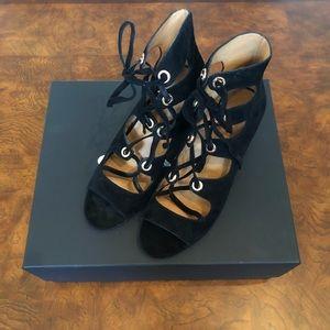 COACH Priscilla Black Suede Strappy Sandal Size 10